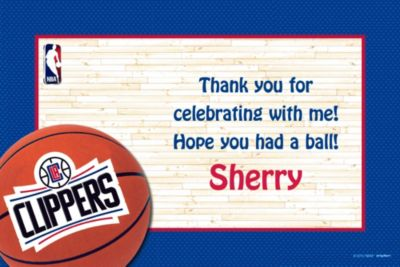 Custom Los Angeles Clippers Thank You Notes