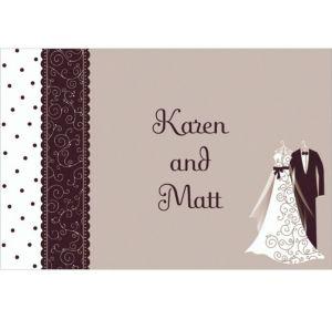 Custom Black & White Wedding Thank You Notes