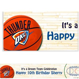 Custom Oklahoma City Thunder Banner 6ft