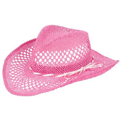 Woven Pink Cowboy Hat