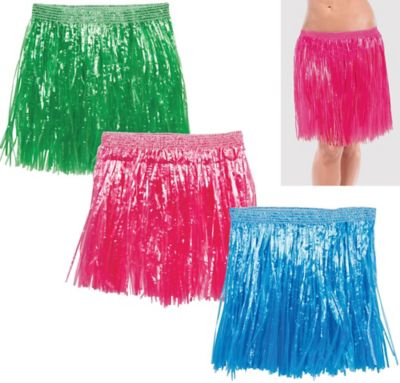 Adult Hula Skirts 3ct