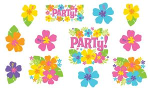 Hibiscus Party Cutouts 12ct
