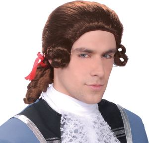 Colonial Man Brown Wig