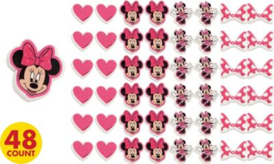 Minnie Mouse Erasers 48ct