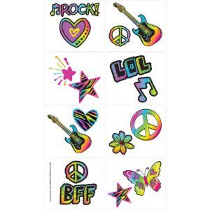 Neon Doodle Tattoos 1 Sheet