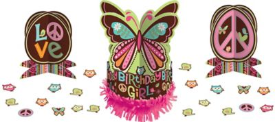 Hippie Chick Centerpiece Kit 23pc