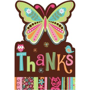 Hippie Chick Thank You Notes 8ct