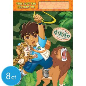 Go, Diego, Go! Favor Bags 8ct