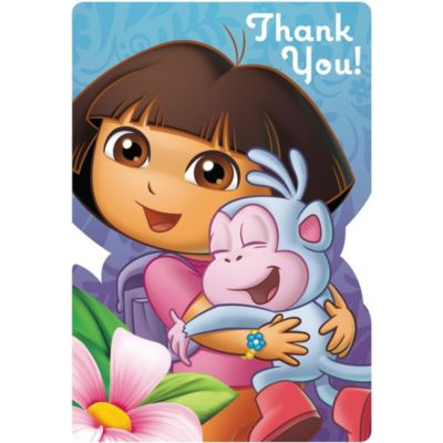 Dora the Explorer Thank You Notes 8ct