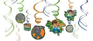 Go, Diego, Go! Swirl Decorations 12ct