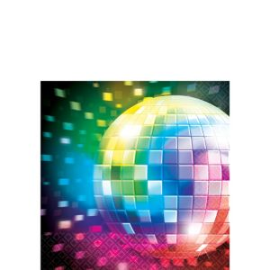Disco 70s Beverage Napkins 16ct