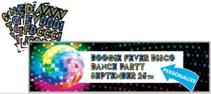 Giant Disco 70s Personalized Banner Kit
