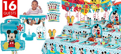 Mickey Mouse 1st Birthday Party Supplies Ultimate Party Kit