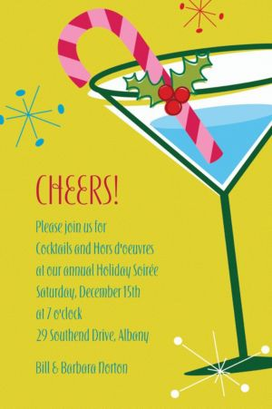 Custom Christmas Party Cocktail Invitations