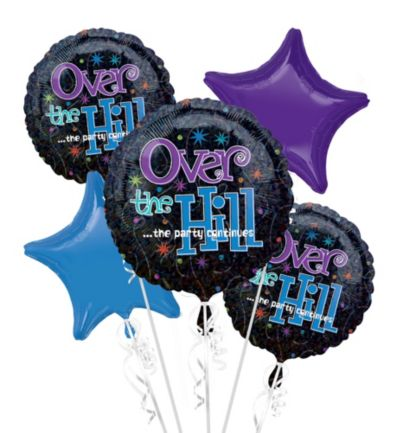 Happy Birthday Balloon Bouquet 5pc - The Party Continues