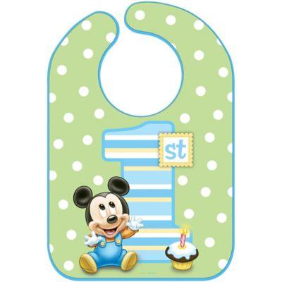 1st Birthday Mickey Mouse Bib