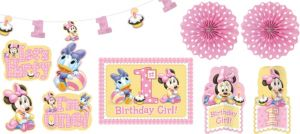 1st Birthday Minnie Mouse Room Decorating Kit 10pc