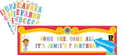 1st Birthday Fisher-Price Circus Personalized Banner