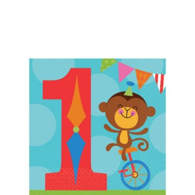 1st Birthday Fisher-Price Circus Beverage Napkins 16ct
