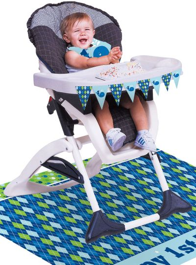 Ocean Preppy 1st Birthday High Chair Decorating Kit 3pc