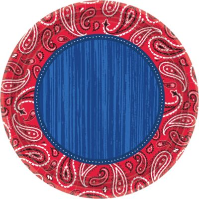 Bandana & Blue Jeans Dinner Plates 8ct