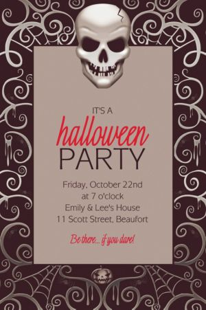 Custom Fright Night Halloween Invitations