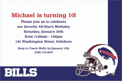 Custom Buffalo Bills Invitations