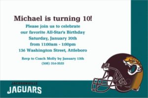 Custom Jacksonville Jaguars Invitations