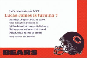 Custom Chicago Bears Invitations