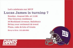 Custom New York Giants Invitations