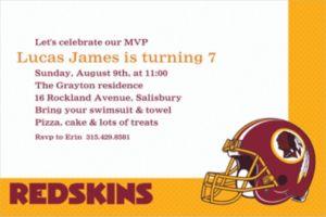 Custom Washington Redskins Invitations