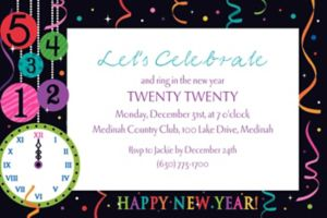 Custom Wild New Year Invitations