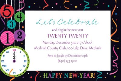 Custom Wild New Year Invitations