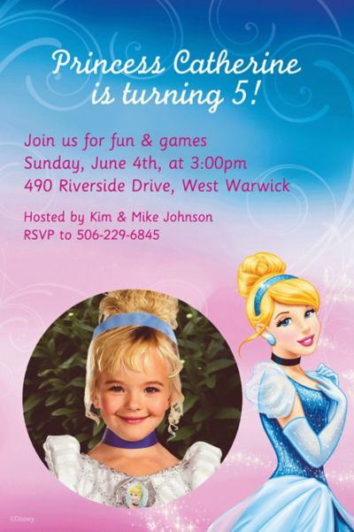 Custom Cinderella Photo Invitations