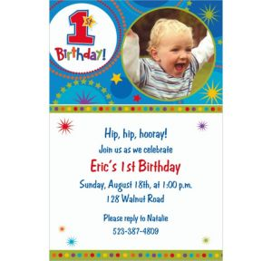 Custom One-derful Birthday Boy Photo Invitations