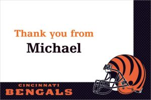 Custom Cincinnati Bengals Thank You Notes