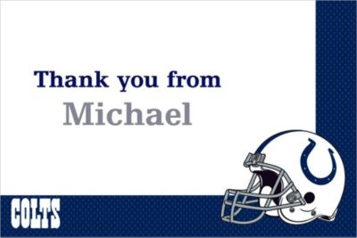 Custom Indianapolis Colts Thank You Notes