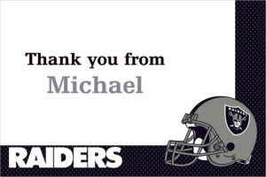 Custom Oakland Raiders Thank You Notes