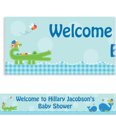 Custom Ahoy Baby Baby Shower Banner 6ft