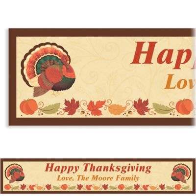Custom Thanksgiving Holiday Banner 6ft