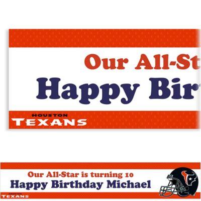 Custom Houston Texans Banner 6ft