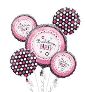 Bachelorette Party Balloon Bouquet 5pc