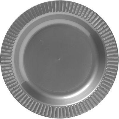 Silver Premium Plastic Dinner Plates 16ct