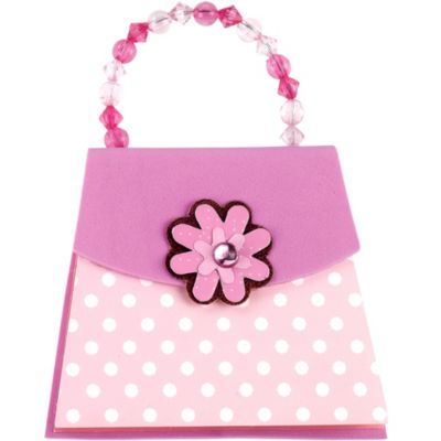 Pink Polka Dot Handbag Notepad