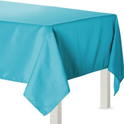 Caribbean Blue Fabric Tablecloth