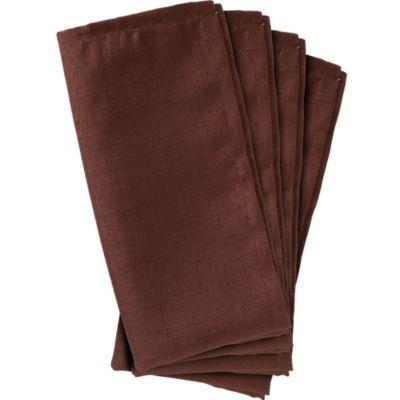 Chocolate Brown Fabric Napkins 4ct