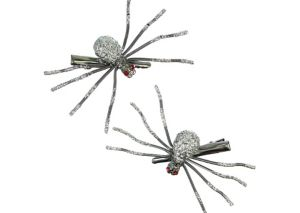 Glitter Spider Hair Clips 2ct
