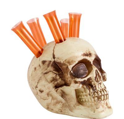 Skull Holder with Shot Glasses