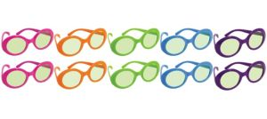 Disco Fever Tinted Glasses 10ct