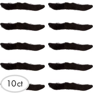 Black Classic 50s Moustaches 10ct